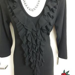 Forever 21 Long Sleeve Black Dress Size M. New